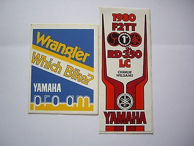 Pair of vintage original Yamaha stickers 1980 TT and Which Bike? Pro-Am