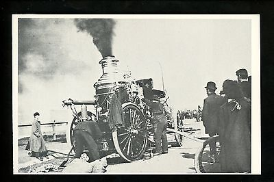 Fire Fighting postcard Fire Engine truck 1906 Metropolitan steamer