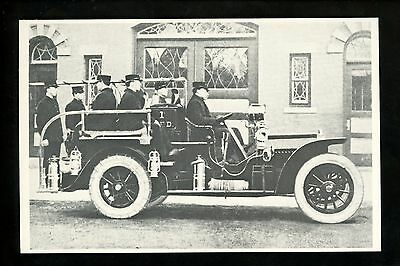 Fire Fighting postcard Fire Engine truck 1914 Locomobile Squad Car