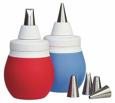 Prepworks By Progressive 8-Piece Silicone Frosting Bulb Decorating Kit With Tips