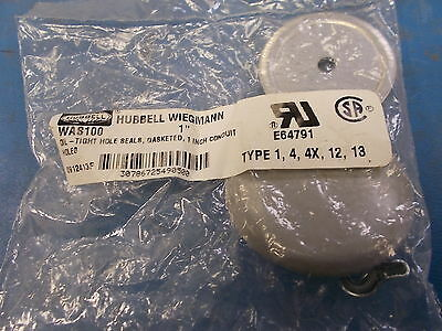"""Hubbell Wiegmann Oil-Tight Hole Seal, Gasketed, 1"""" in Conduit, WAS100"""
