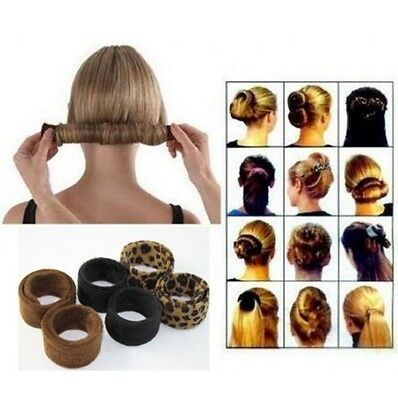 Hairpin Hairagami Bun Tail Black Leopard Women Hair Care Styling Tools WCA100
