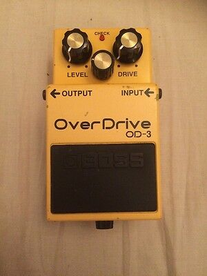 Boss OD-3 Overdrive Guitar Effects Pedal, MIT, Fully Working, Great Condition