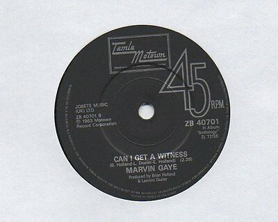 """❤ MARVIN GAYE - Can I get a witness ❤  TAMLA MOTOWN UK 1963  ❤   7"""" 45rpm SINGLE"""