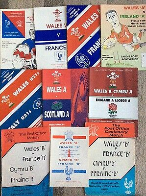 COLLECTION OF WALES UND 21/a/b internationals