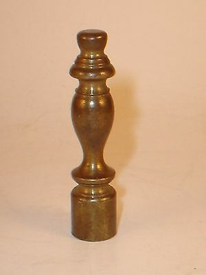 Antique Brass Lamp or Light Fixture Finial Topper Vintage Hardware Parts