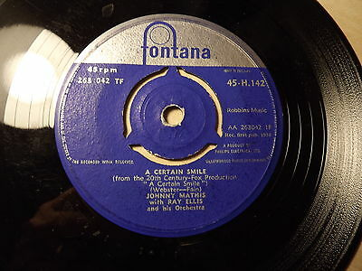 Johnny Mathis with Ray Ellis......A Certain Smile.......45rpm