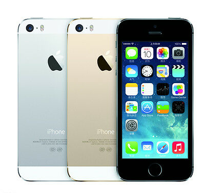 Unlocked Apple iPhone 5S 16G/32GB/64G Space Grey/White Silver/Gold Silver