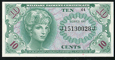 Series 641 10 Ten Cents Mpc Military Payment Certificate Gem Uncirculated