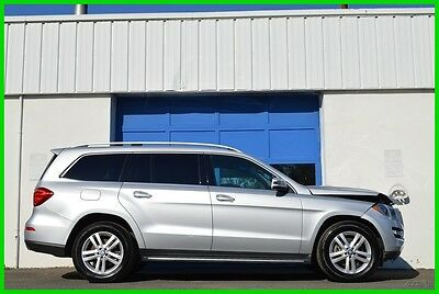 2016 Mercedes-Benz GL-Class GL450 4MATIC AWD Navigation Premium Pkg Cold Pkg Repairable Rebuildable Salvage Lot Drives Great Project Builder Fixer Front Hit
