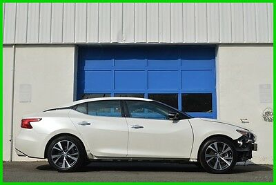 2016 Nissan Maxima 3.5 SL Navi Panoramic Moonroof Rear View Camera ++ Repairable Rebuildable Salvage Lot Drives Great Project Builder Fixer Easy Fix