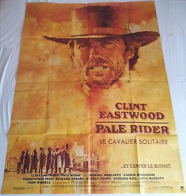 """Pale Rider Original Giant French poster (Size approx 47"""" X 63"""") 1985. Eastwood"""