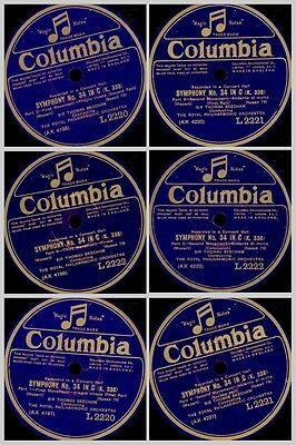 ROYAL PHILHARMONIC ORCH. & BEECHAM   Mozart: Symphony No. 34 in C 78rpm  GS716