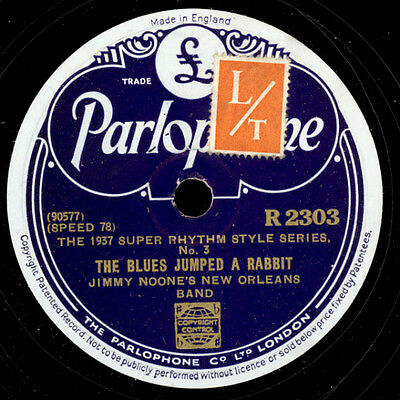 JIMMY NOONE'S NEW ORLEANS BAND The Blues jumped a Rabbit/He's the diff...  X1051