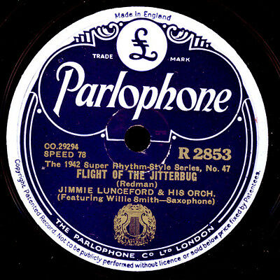 JIMMY LUNCEFORD & HIS ORCHESTRA  Flight of the Jitterbug / Okay for baby   X1687