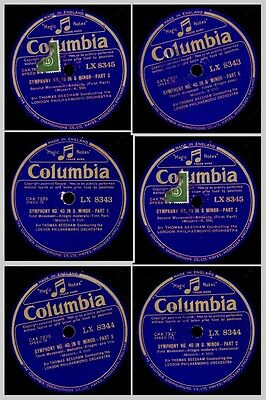 LONDON PHILHARM. ORCH. & BEECHAM Mozart: Symphony No. 40 in G Minor 78rpm  GS711