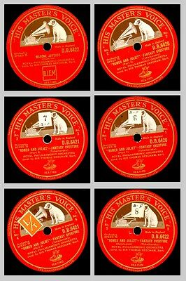 """ROYAL PHILHARM. ORCH. & BEECHAM Tchaikovsky: """"Romeo and Juliet""""  3x 78rpm GS616"""