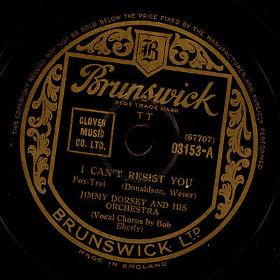 JIMMY DORSEY & HIS ORCHESTRA  I can't resist you / Whispering grass  78rpm X627
