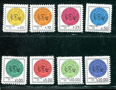 8 Different MNH State of Oregon Transaction Tax Stamps (Lot #rn175)