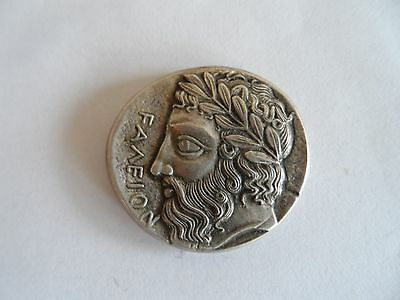 Greek Silver Tetradrachm coin of Zeus