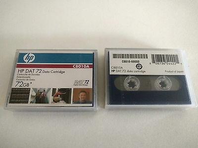 HP DAT72 Data Cartridge 4mm 170m 36-72GB C8010A - New, factory sealed