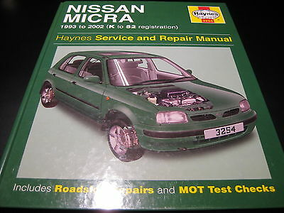 Nissan Micra 1993 to 2002 Haynes Service & Repair Workshop Manual