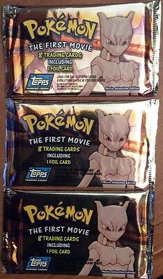 Rare - Pokemon The First Movie - Booster Pack - Mewtwo Etc - Mint