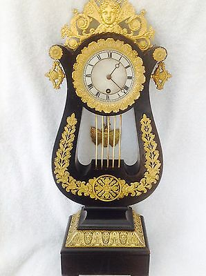Ormolu And Japanned Lyre Clock