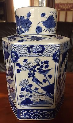 Chinese Blue And White Tea Canister