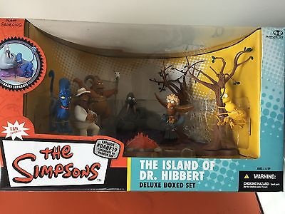 The Simpsons THE ISLAND OF DR.HIBBERT Deluxe Boxed Set McFarlane Factory Sealed