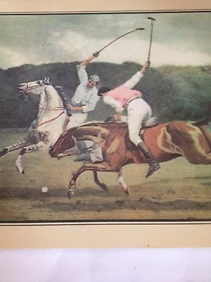 3 Vintage Polo Game Placemats