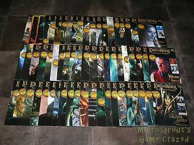 Bundle of 62 The Lord Of The Rings Collector's Models Magazines *No Figures*