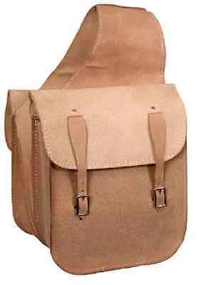 Western Trail Horse Natural Leather Saddle Bag Or Motorcycle Saddle Bags