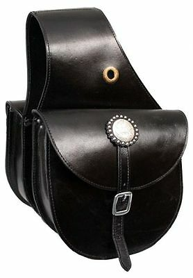 New BLACK LEATHER Top Grain Leather Western Saddle Bag! NEW HORSE TACK!