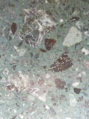 Green Marble Effect Fire Hearth & Back Panel
