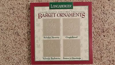 1996 Longaberger Christmas Collection Pewter Basket Ornaments - Look!!