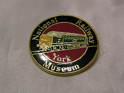 NATIONAL RAILWAY MUSEUM YORK METAL and ENAMEL BADGE