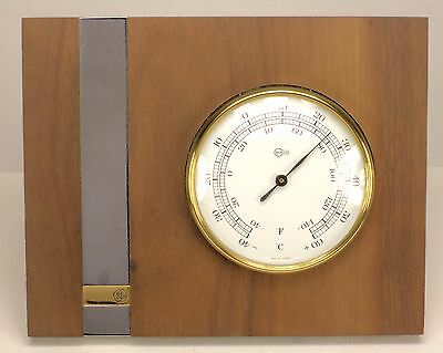Vnt Ge General Electric Presentation Barigo Thermometer Walnut Stand Germany