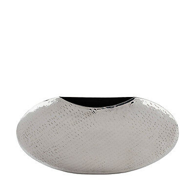 Stainless Steel-Wide circular Vase by Finesse Decor