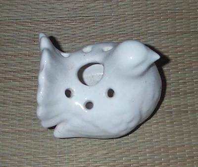Little White Pottery Fantail Pigeon