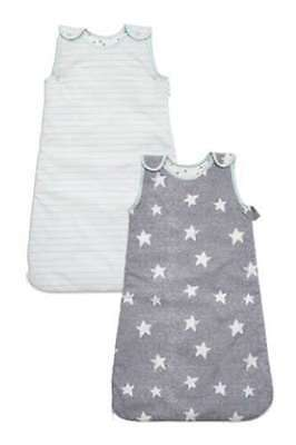 Bnwt NEXT Baby Little Star Sleeping Bag Two Pack 1.5-3 years 2.5 togs