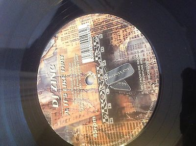 """DJ Zinc- It's Like That/ Oasis 12"""" Vinyl Drum and Bass Jungle Frontline Records"""