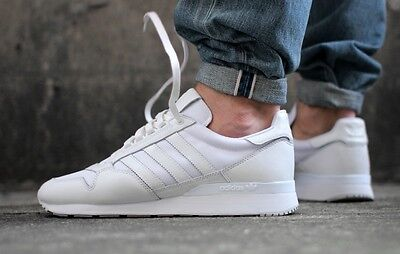 Adidas Originals Men's ZX 500 OG Trainers White Leather Sneaker Gym Shoe UK 7-11