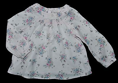 Next Girls Pink Floral Shirt Top Blouse Age 18-24 Months Eur 92Cm Cotton