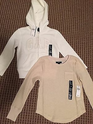 Gap Kids Baby Girls Hooded Sweatshirt Hoodie Shirt Sparkles Size XS 4 - 5 Small