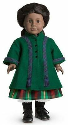 American Girl Addy Winter Coat green & blue New NIB Retired