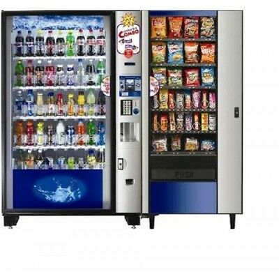 Glass Front Vending Center  Bevmax 4 and Automatic Products Satellite 937D