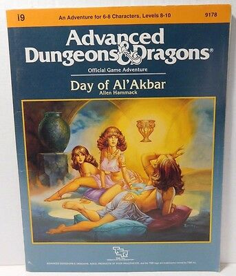 Dungeons & Dragons Day of Al'Akbar 9178 TSR Module I9 (No Map Insert)