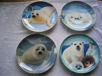 Franklin Mint - Limited Edition - Plates - Seals by Wepplo & Margaret Keane