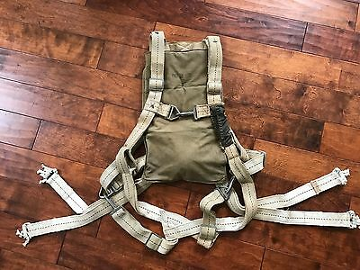 ORIGINAL WWII WW2 1943 PARACHUTE HARNESS For SEAT PACK AN6510 STANDARD